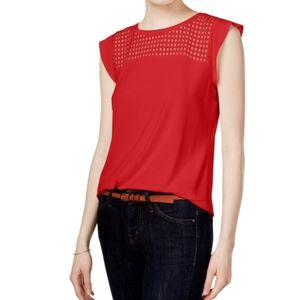 Maison jules sleeveless red top S